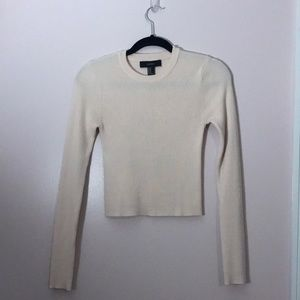 Pale pink sweater crop top